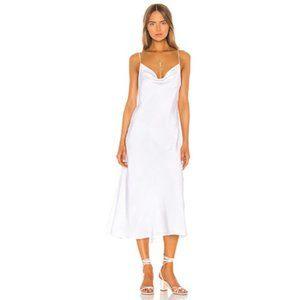 NWT RESA Berri Satin Slip Dress in White Small